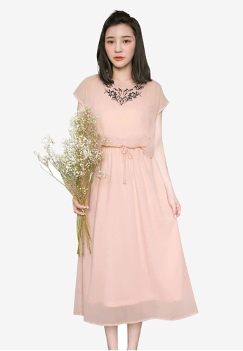 Tokichoi pink Floral Embroidery Dress BCC58AA0A8670CGS_1