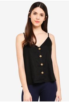 1b75197786cfc Cotton On black Alexa Button Front Cami EB9CFAA096AA32GS_1