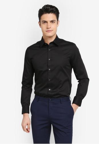 G2000 black Dobby Twill Long Sleeve Shirt 368D9AA46C6980GS_1