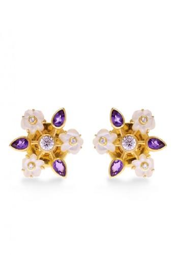 Sunaka Jewelry gold Anting Perak Subeng Gold Plated Koleksi Anggrek 0213EACCD45408GS_1