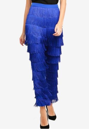 Lavish Alice blue Fringe Trousers 47398AA35915A2GS_1
