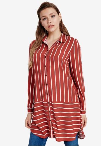 LC WAIKIKI red Striped Shirt 9E4F1AA8F2A5A5GS_1