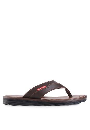 Homyped brown Civic Men Sandals HO842SH90HCVID_1