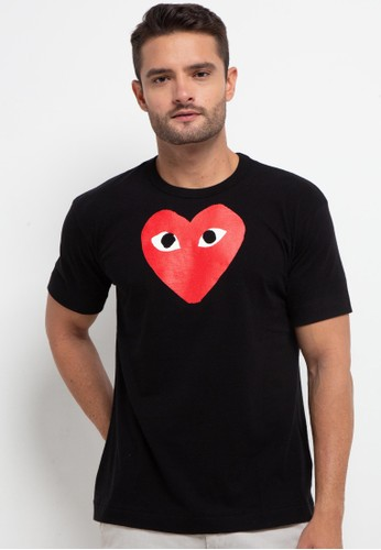Papilion Duo black CdG PLAY Men's T-Shirt CBAC5AAD7AD1FCGS_1