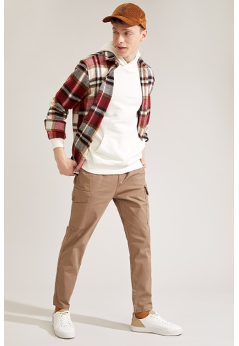 DeFacto brown Cargo Trousers A8AD2AAD127C64GS_1
