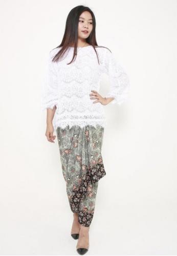 Naphthys Collection black and grey and white and multi Batik Skirt/Sarong FC5F9AA0CDEEB1GS_1