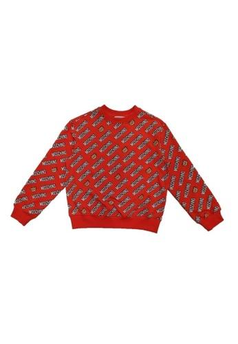 MOSCHINO BABY KID TEEN red MOSCHINO GIRLS SWEATSHIRT BAD6CKA322BD5DGS_1