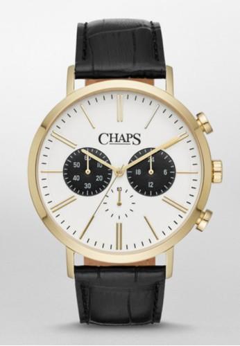 CHAPS Dunham Chrono三眼計時腕錶zalora 評價 CHP5049, 錶類, 紳士錶