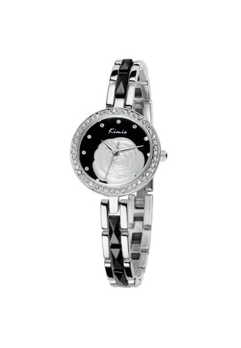 Eyki black and silver Eyki Kimio KW500S Women's Rhinestones Stainless Steel Watch (Silver Black) EY078AC44RPNMY_1