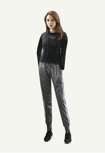 B-Code grey ZYG5030-Lady Quick Drying Running Fitness Yoga Training Pants-Grey A9150AAEB386EDGS_1