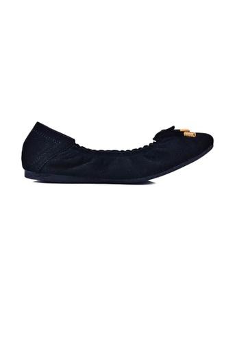 SHINE black Suede Ballet Flats 5A4A2SHE3485A2GS_1