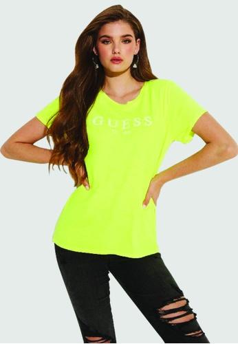 Guess yellow Logo Eco Tee 6FDE2AAB717E94GS_1