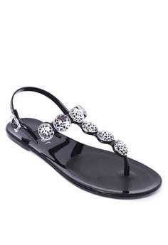 Leopard Glamour Flat Sandals