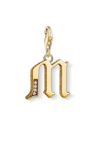 """THOMAS SABO gold Charm pendant """"letter M gold"""" 6CE72AC8E48172GS_1"""
