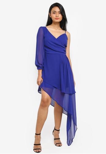 Preen & Proper blue Asymmetrical Dress 450ACAA09945EFGS_1