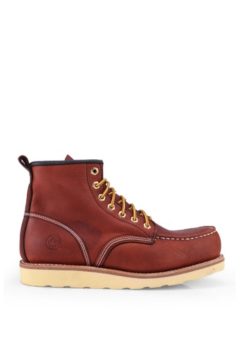 Lumberjacks brown Chukka Boots F4395SHF6F9745GS_1