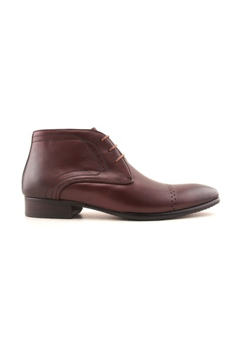 Rad Russel red Rad Russel Leather Derby Boots RA654SH02MGVSG_1