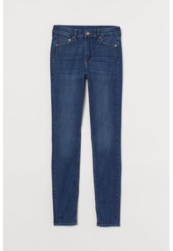 H&M blue Skinny Regular Jeans D4894AAABDC48AGS_1
