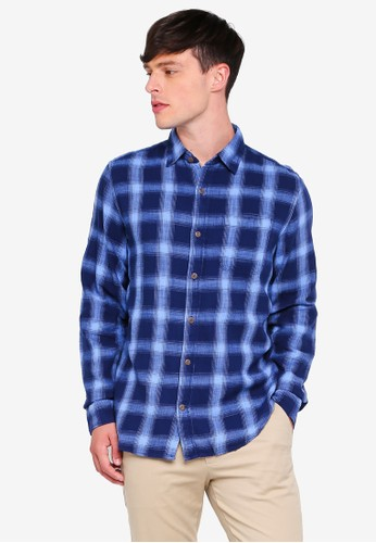GAP blue Slub Cotton Twill Shirt 42EF3AA58A7594GS_1