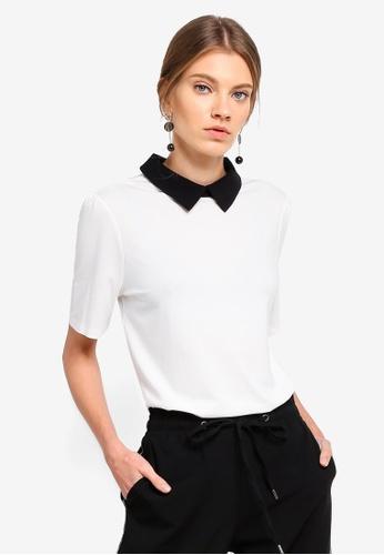 ESPRIT white Short Sleeve Top C5F20AA2588AE5GS_1