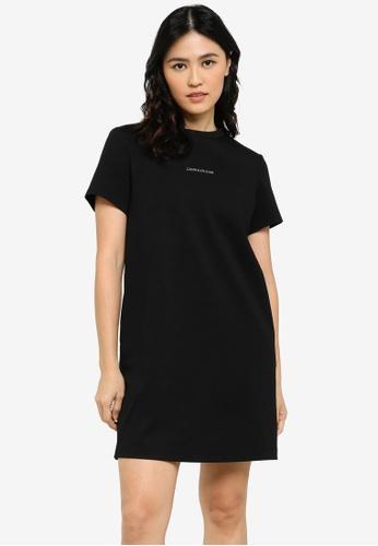 Calvin Klein black Milano Logo Tape Dresses - CK Jeans 8867EAAFA1FD90GS_1