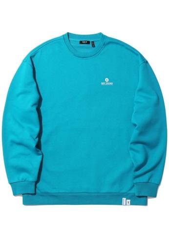 Fivecm navy Logo print sweatshirt E7429AA7D4A57FGS_1