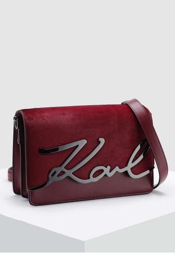 c16b1cc4956b Buy KARL LAGERFELD Signature Luxe Crossbody Bag Online