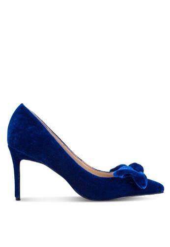 Velvet 海軍藍色 High Heels with Bow Detail DB2F7ZZAF8D583GS_1