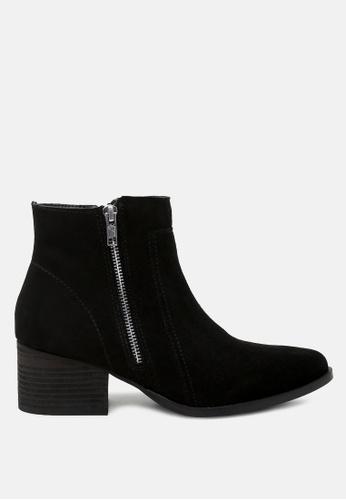 Rag & CO. black Ankle Boots with Zip Closure EC2E8SH61D1176GS_1