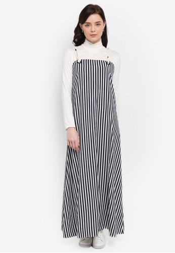 Zalia navy Tie Slip Dress with Inner E1BFAAAA58FC44GS_1