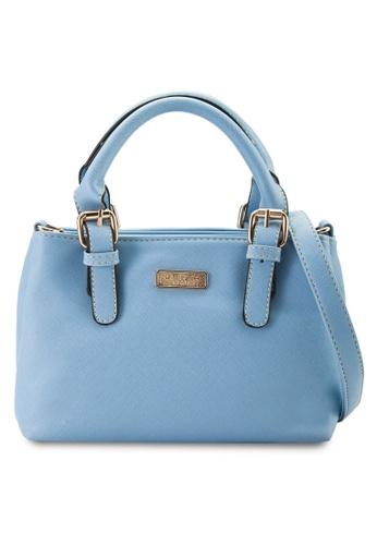 Unisa blue Saffiano Multi-Compartment Convertible Tote Bag UN821AC61VDUMY_1