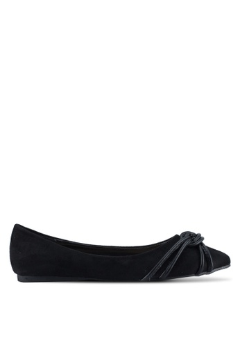 Something Borrowed black Knot detail Ballerina Flats A9608SH2931BE9GS_1