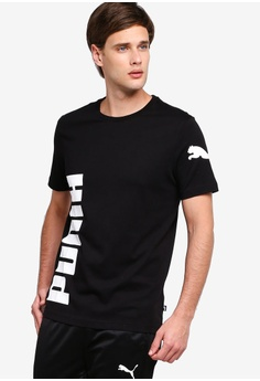 136e76177b6 PUMA black Sportstyle Core Big Logo Tee 89C31AAF13CB81GS_1