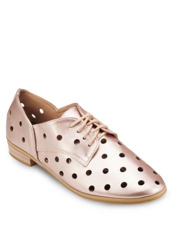 小圓孔布洛克esprit台灣outlet皮鞋, 女鞋, 鞋