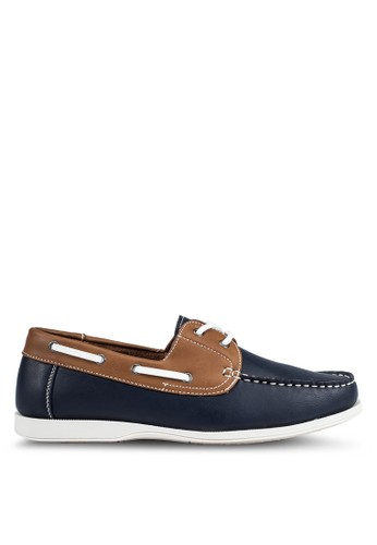 JAXON multi and navy Casual Faux Leather Boat Shoes D192ESH930A875GS_1