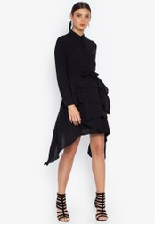 Susto The Label black Esther Layered Dress 2DC6AAA2F29BBCGS_1