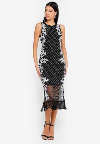 Miss Selfridge black Diamond Midi Dress 8F126AA2CBCC45GS_1
