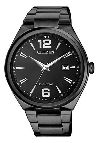 CITIZEN black Citizen Eco-Drive Black Stainless Steel Watch A8056AC0532D20GS_1