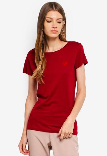 JACQUELINE DE YONG red Chicago S/S Print Top FD824AA86B6E55GS_1