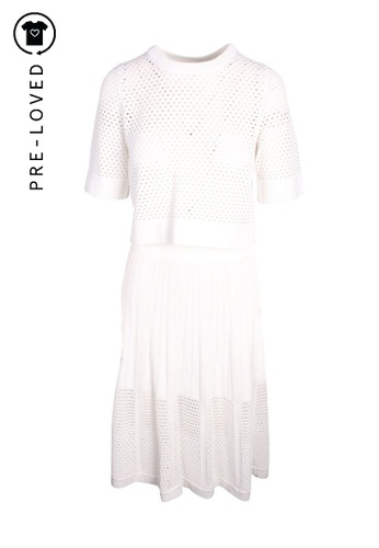 A.l.c white Pre-Loved a.l.c. Eyelets Drop Top and Skirt E2DB8AABE0DEEDGS_1