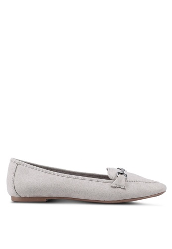 Dorothy Perkins grey Grey Louie Snaffle Loafers 3C88ASHE7A1F02GS_1