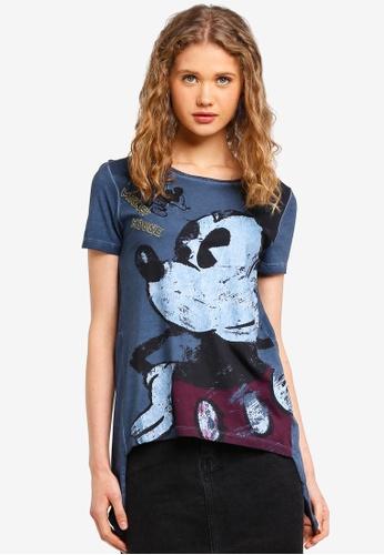Desigual blue Vera T-Shirt 7BC87AA54D56A9GS_1
