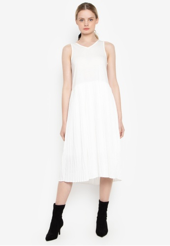 Susto The Label white Mareah Pleated Dress 50EF9AA7A1179FGS_1