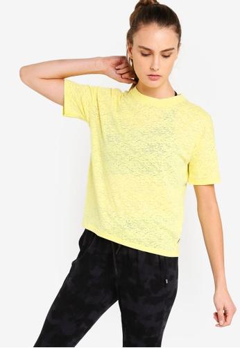 Cotton On Body yellow Boxy Burnout T-Shirt 43311AAC5E6BDFGS_1