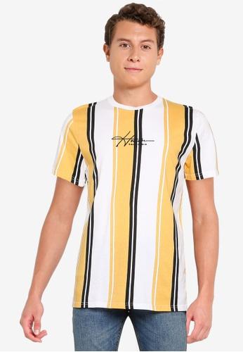 Hollister yellow Pattern Tech T-Shirt F2D0DAA1FE77AEGS_1