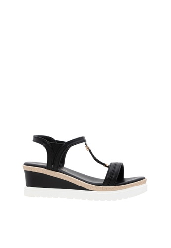 SEMBONIA black Women Synthetic Leather Wedges 900D1SH1DDDFA8GS_1