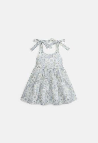 Gingersnaps grey Girls Floral Tiered Dress C8628KADDFA5C5GS_1