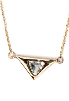 Triangle Stoned Short Necklace