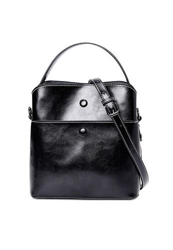Twenty Eight Shoes black VANSA Burnished Cow Leather Hand Bag VBW-Hb6333 8D085AC36AE924GS_1