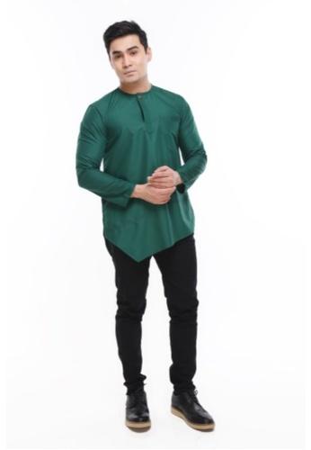 Amar Amran green Kurta Al Fattah 2.0 C038FAA3271D07GS_1